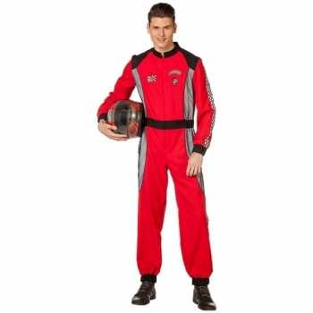 Foute coureur party kleding rood voor heren
