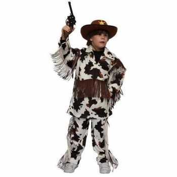 Foute cowboy party kleding met koeienprint voor kinderen