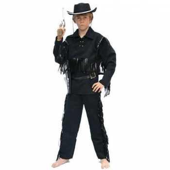 Foute cowboy party kleding voor kinderen zwart