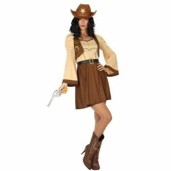 Foute cowgirl/cowboy cassidy party kleding/jurk voor dames