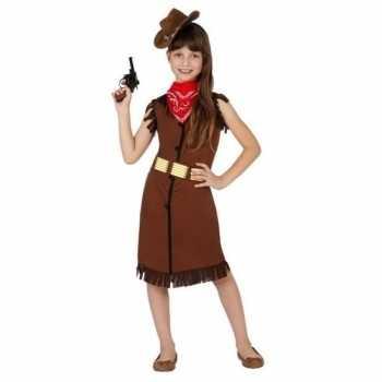 Foute cowgirl/cowboy party kleding/jurk voor meisjes