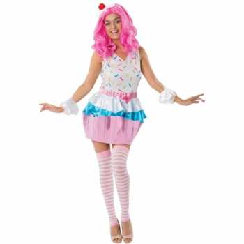 Foute cupcakejes party kleding voor dames