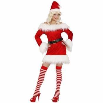 Foute dames kerstjurkjes fluweel party