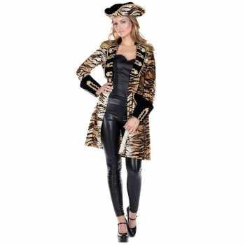 Foute dames tijgerprint party kleding jas