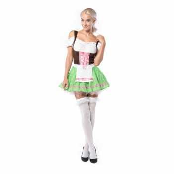 Foute dames tiroler party kleding groen/roze
