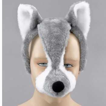 Foute dieren feestmaskers wolf met geluid party