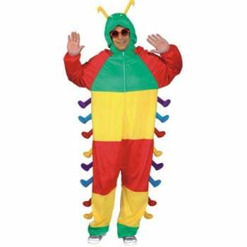 Foute dieren party kleding rups voor volwassenen