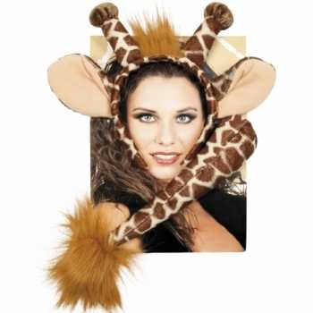 Foute dieren set giraffe party