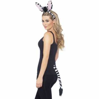 Foute dieren set zebra party 10078163