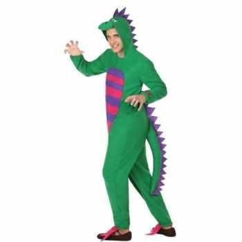 Foute dierenpak groene draak party kleding voor heren