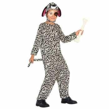 Foute dierenpak hond/honden party kleding dalmatier voor kinderen