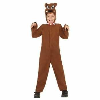Foute dierenpak honden party kleding 'bull terrier' voor kinderen