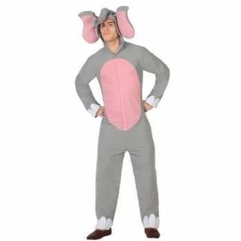 Foute dierenpak olifant party kleding voor volwassenen