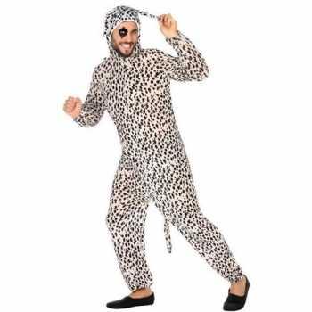 Foute dierenpak party kleding dalmatier hond voor volwassenen