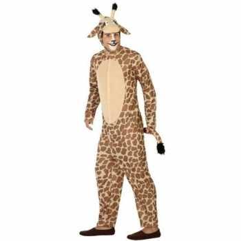 Foute dierenpak party kleding giraffe voor volwassenen