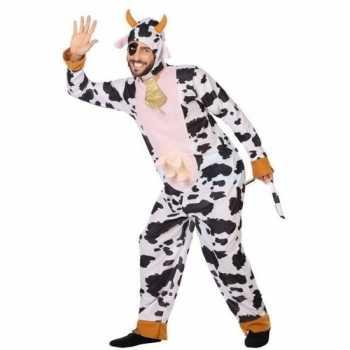 Foute dierenpak party kleding koe voor volwassenen