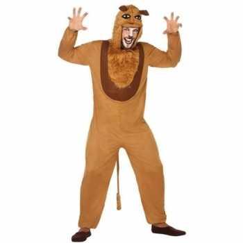 Foute dierenpak party kleding leeuw voor volwassenen