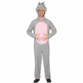 Foute dierenpak party kleding nijlpaard voor volwassenen
