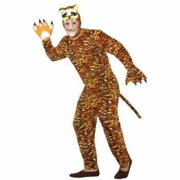 Foute dierenpak party kleding tijger voor volwassenen