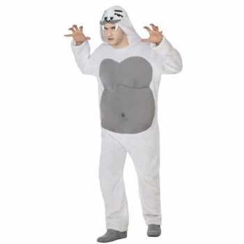 Foute dierenpak yeti party kleding voor volwassenen