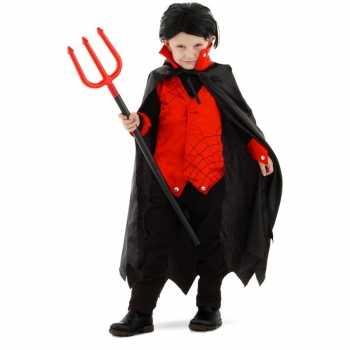Foute dracula/vampier party kleding met cape voor kinderen