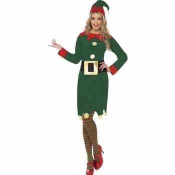 Foute elfjes party kleding groen voor dames