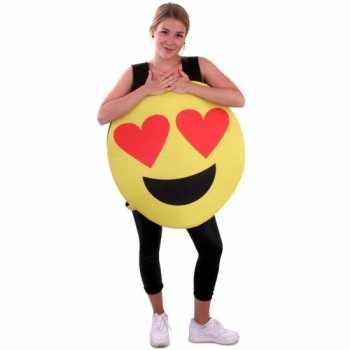 Foute emoticon party kleding hartjes ogen voor volwassenen