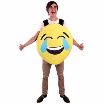 Foute emoticon party kleding lachend voor volwassenen