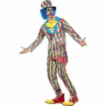 Foute eng horror clown party kleding met streepjes