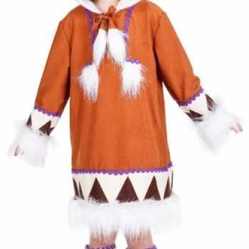 Foute eskimo party kleding met laarshoezen voor meisjes