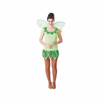 Foute fee party kleding groen voor dames