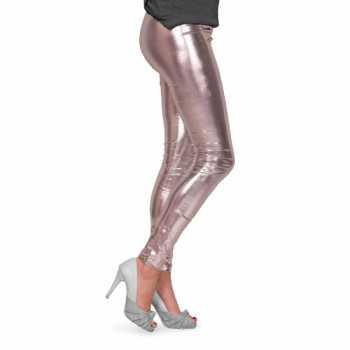 Foute feestartikelen glimmende zilveren dames legging party