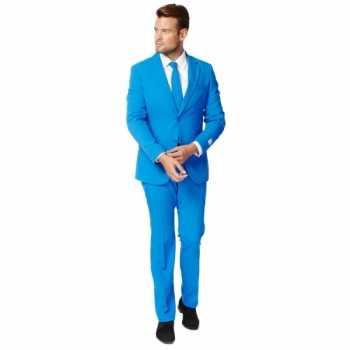 Foute fel blauw zaken party kleding voor heren
