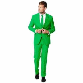 Foute fel groen party kleding pak voor heren