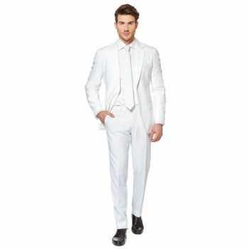 Foute fel wit party kleding pak voor heren