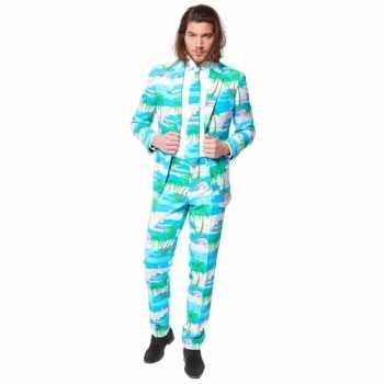Foute flamingo party kleding pak voor heren
