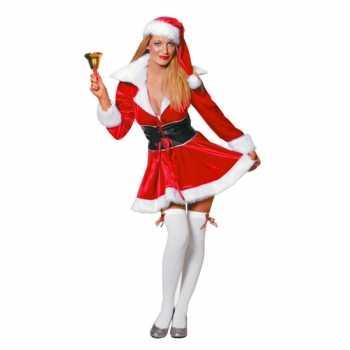 Foute fluwelen kerstvrouw party kleding