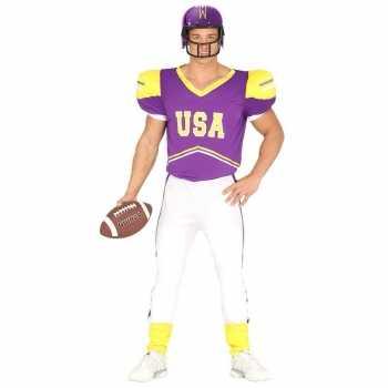 Foute football party kleding paars/geel voor heren