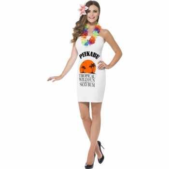 Foute fun party kleding dames peekabu