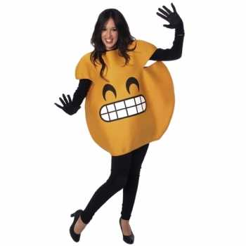 Foute fun smile emoticon party kleding volwassenen