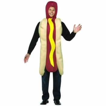 Foute funny party kleding hot dog