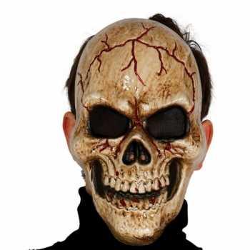 Foute gebarsten schedel masker voor skelet party kleding