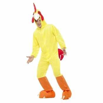 Foute geel kip/haan party kleding voor volwassenen