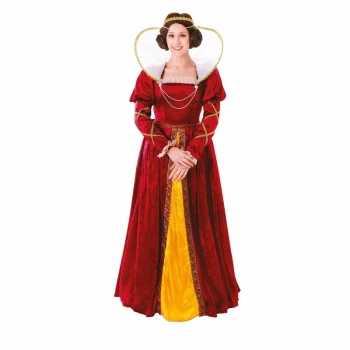 Foute geschiedenis middeleeuwse koningin damesparty kleding party