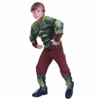 Foute gespierde groene held party kleding voor jongens