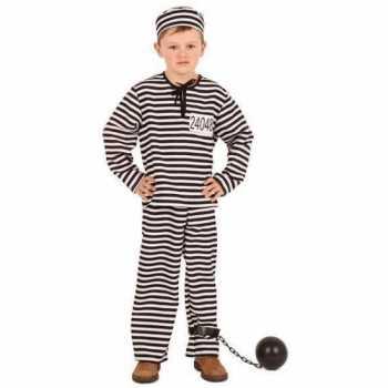 Foute gestreept gevangene party kleding kinderen