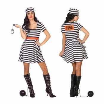 Foute gevangene/boef bonnie party kleding/jurk voor dames
