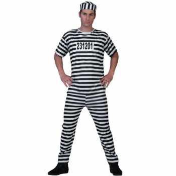 Foute gevangenen party kleding voor mannen