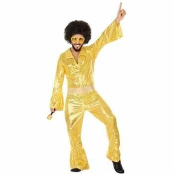 Foute gouden disco pak/party kleding voor heren