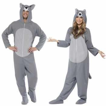 Foute grijze wolf party kleding